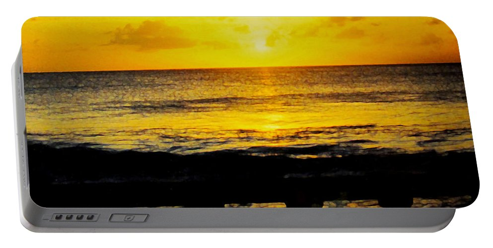 Barbados Portable Battery Charger featuring the photograph From The Terrace by Ian MacDonald