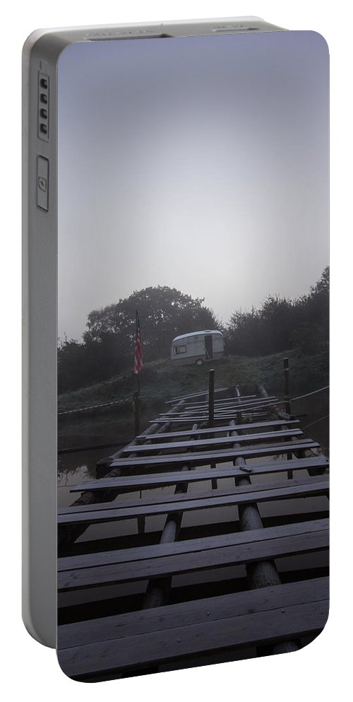 Boardwalk Portable Battery Charger featuring the photograph Frosty Boardwalk by Dawn OConnor