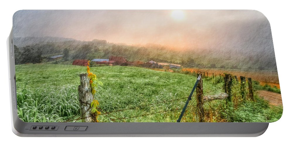 Appalachia Portable Battery Charger featuring the photograph Frosty Morn by Debra and Dave Vanderlaan