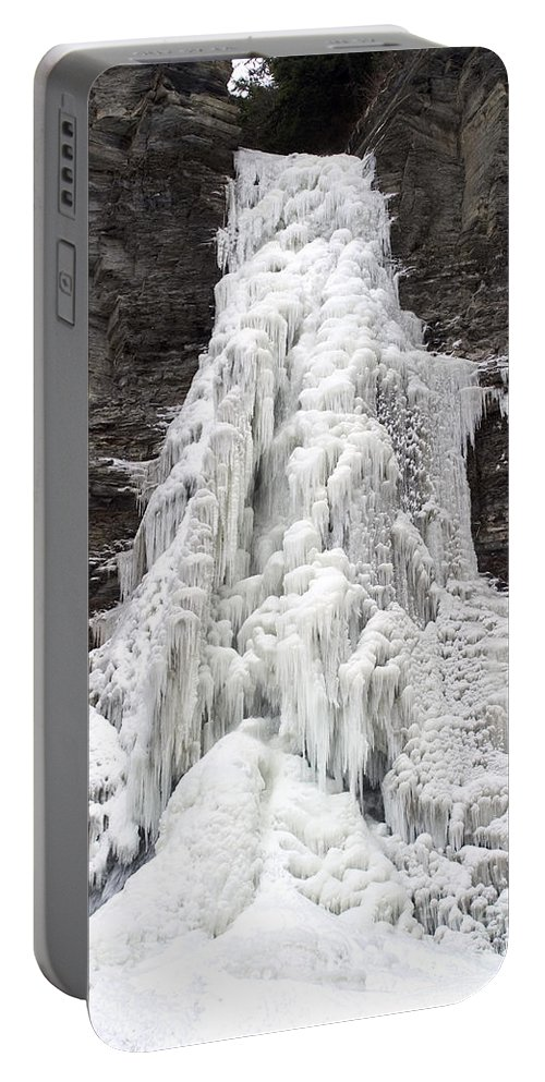 Ice Portable Battery Charger featuring the photograph Frozen Waterfall by Ted Kinsman
