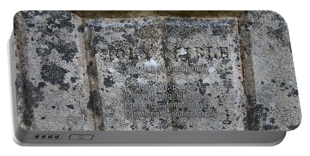 Bible Portable Battery Charger featuring the photograph Galatians 5 22 by David Arment
