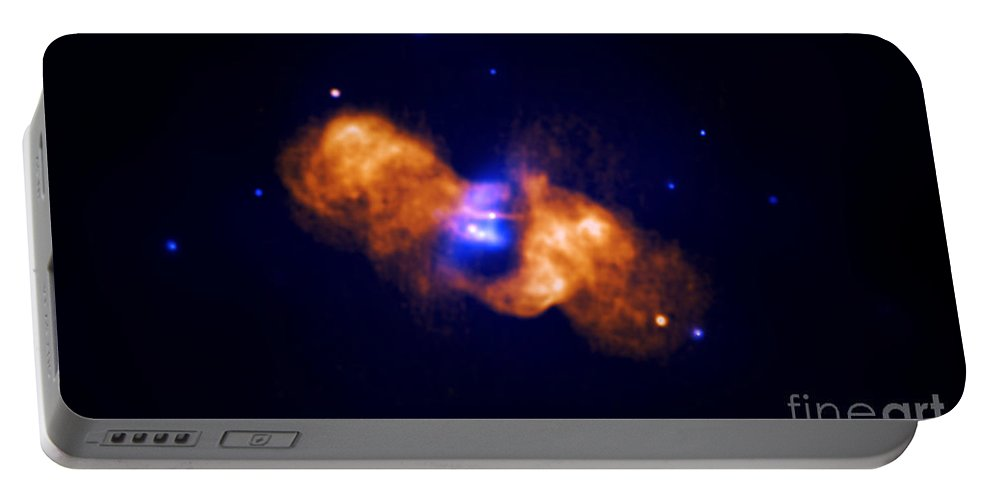 Chandra Portable Battery Charger featuring the photograph Galaxy Collision by Nasa