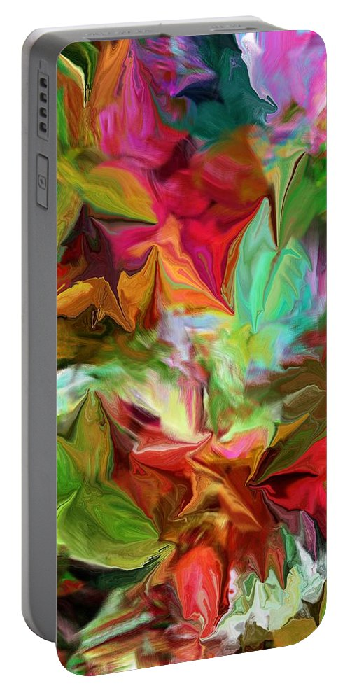Fine Art Portable Battery Charger featuring the digital art Garden Abstract 072312 by David Lane