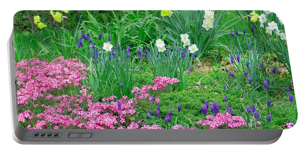 Flower Portable Battery Charger featuring the photograph Garden Escape by Aimee L Maher ALM GALLERY