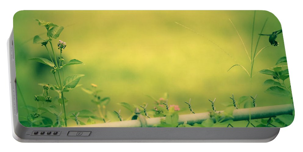 Portable Battery Charger featuring the photograph Garden Scene After Lightroom by Kim Henderson