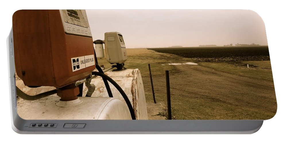 Farm Portable Battery Charger featuring the photograph Gasoline Pump by Jacqueline Athmann