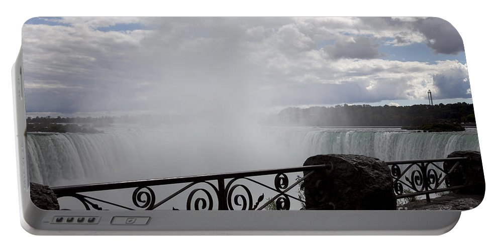 Niagara Portable Battery Charger featuring the photograph Gate To Fall by Amanda Barcon