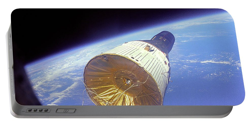 Space Program Portable Battery Charger featuring the photograph Gemini 6 Views Gemini 7 by Nasa