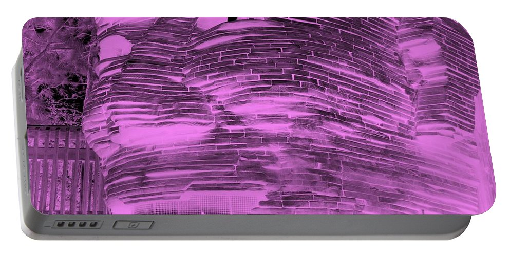 Architecture Portable Battery Charger featuring the photograph Gentle Giant In Negative Pink by Rob Hans