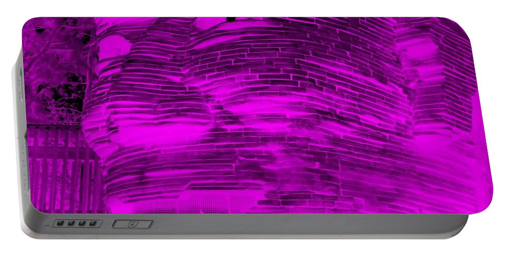 Architecture Portable Battery Charger featuring the photograph Gentle Giant In Negative Purple by Rob Hans