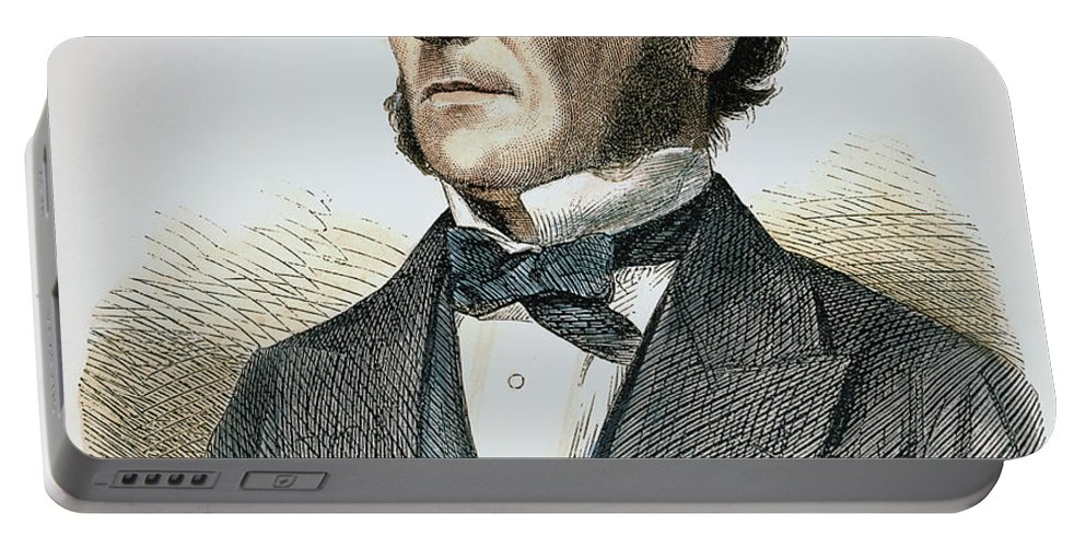 1865 Portable Battery Charger featuring the photograph George Boole (1815-1864) by Granger