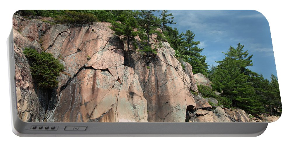 Granite Bedrock Portable Battery Charger featuring the photograph George Lake by Ted Kinsman
