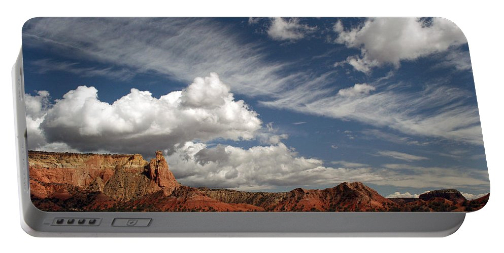 Ghost Ranch Portable Battery Charger featuring the photograph Georgia O'keeffe's Ghost Ranch by Elizabeth Rose