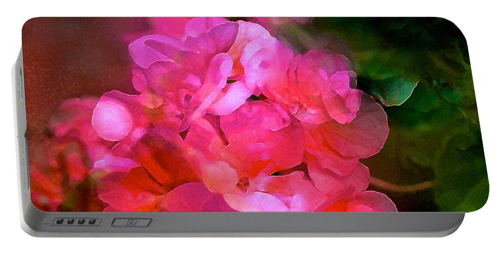 Floral Portable Battery Charger featuring the photograph Geranium 9 by Pamela Cooper