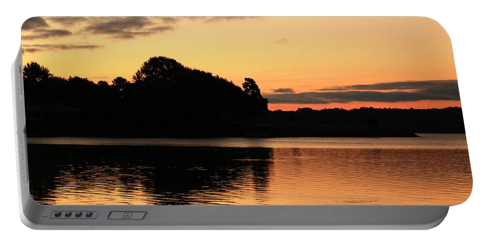 Sunrise Portable Battery Charger featuring the photograph Getting Brighter by Catie Canetti