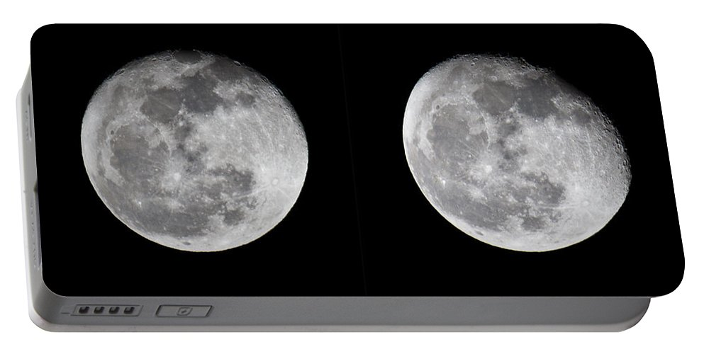 Moon Portable Battery Charger featuring the photograph Gibbous Moon by Betsy Knapp