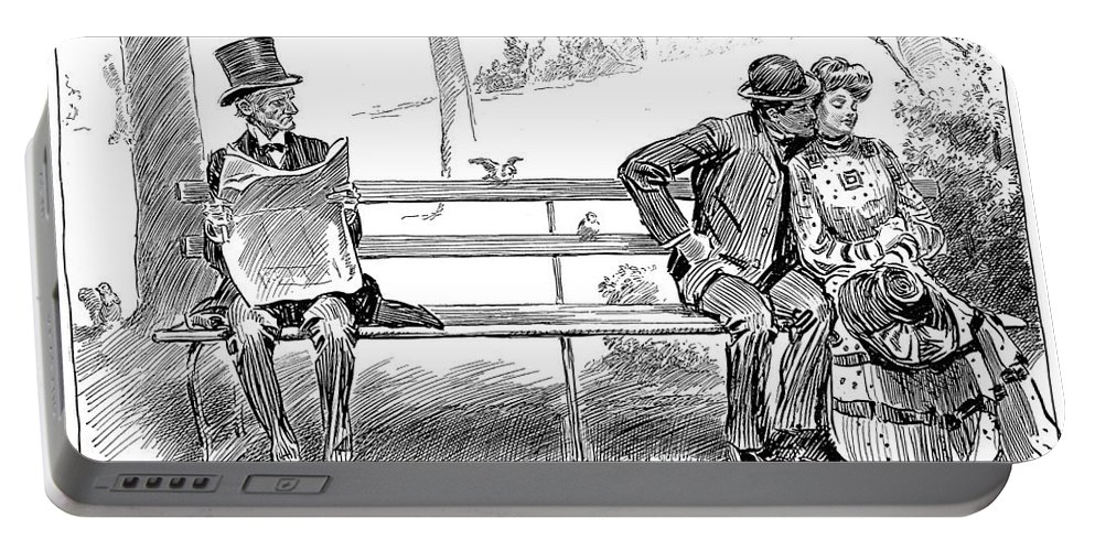 1904 Portable Battery Charger featuring the photograph Signs Of Spring by Charles Dana Gibson