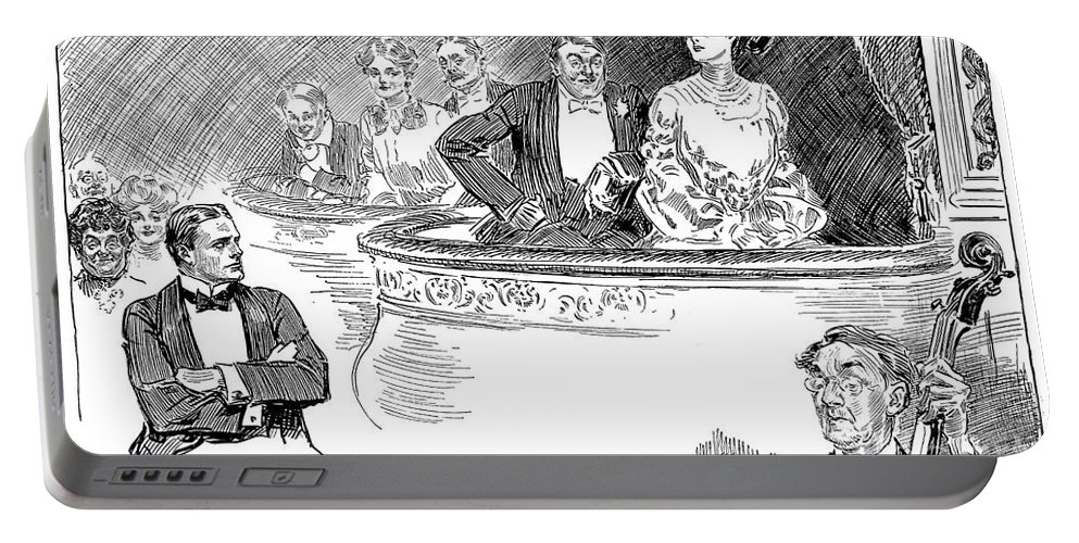 1903 Portable Battery Charger featuring the photograph Weaker Sex Viii by Charles Dana Gibson