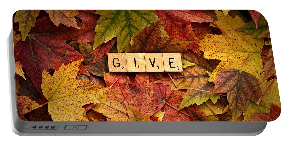 Daniel J. Kmiecik Portable Battery Charger featuring the photograph Give-autumn by Onyonet Photo Studios