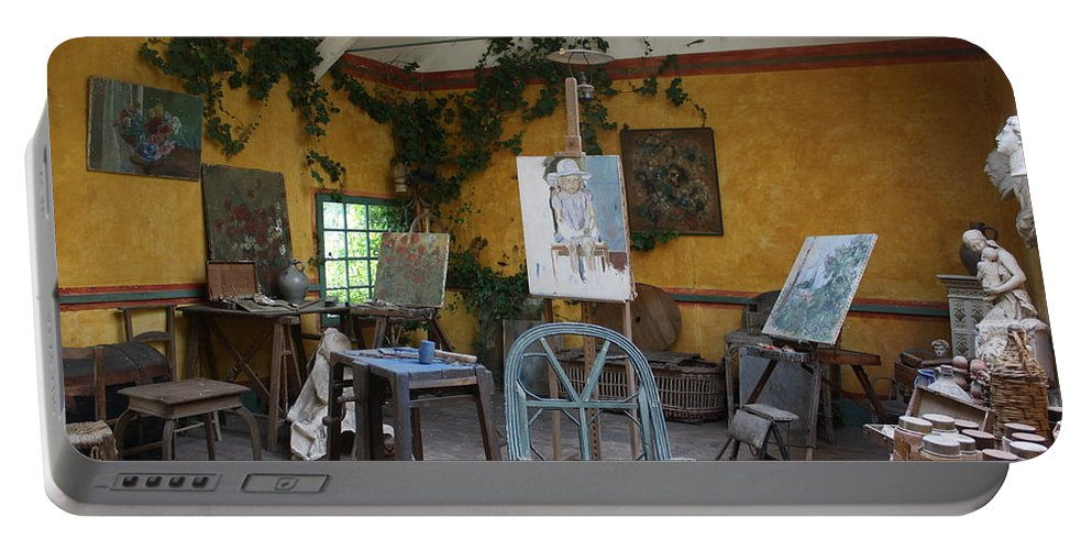 Studio Portable Battery Charger featuring the photograph Giverny E'talier by Donna Walsh