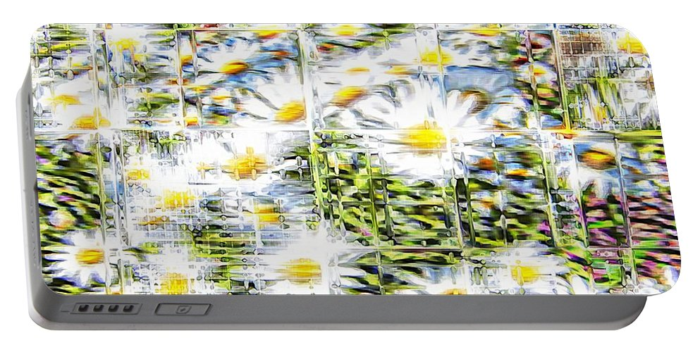 Flowers Floral White Glassy Portable Battery Charger featuring the photograph Glass Flowers by Alice Gipson