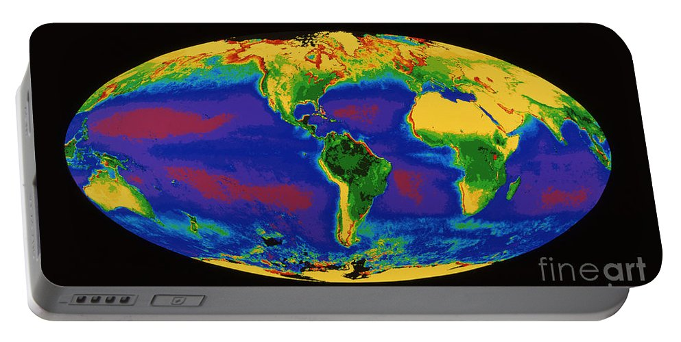 Global Biosphere Portable Battery Charger featuring the photograph Global Biosphere by Dr. Gene Feldman, NASA Goddard Space Flight Center