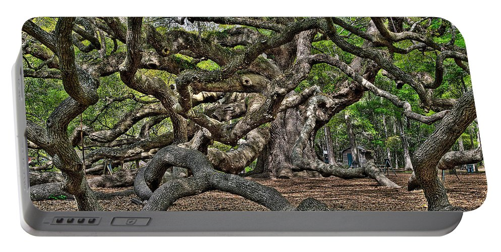 Charleston Portable Battery Charger featuring the photograph Gnarled by Andrew Crispi
