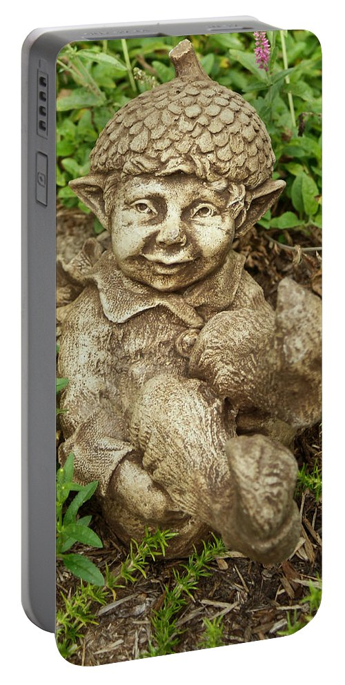 Gnome Portable Battery Charger featuring the photograph Gnome 1 by Douglas Barnett