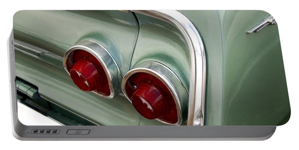 Classic Car Portable Battery Charger featuring the photograph Going Green by Gabe Arroyo