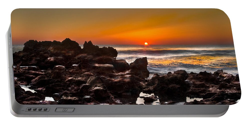 Blowing Rocks Portable Battery Charger featuring the photograph Golden by Debra and Dave Vanderlaan