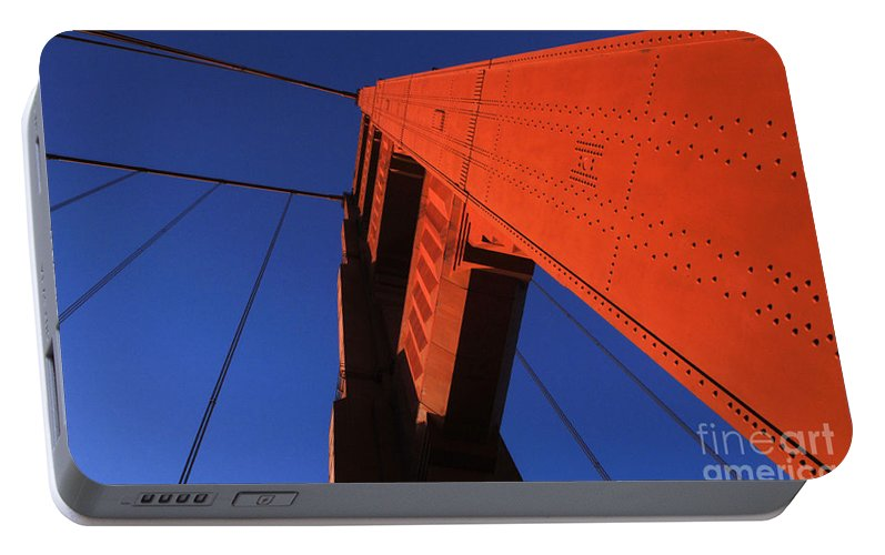 Golden Gate Portable Battery Charger featuring the photograph Golden Gate Bridge Detail by Bob Christopher