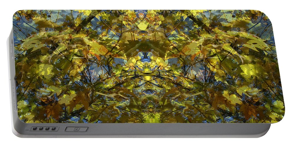 Golden Rorschach Portable Battery Charger featuring the photograph Golden Rorschach by Seth Weaver