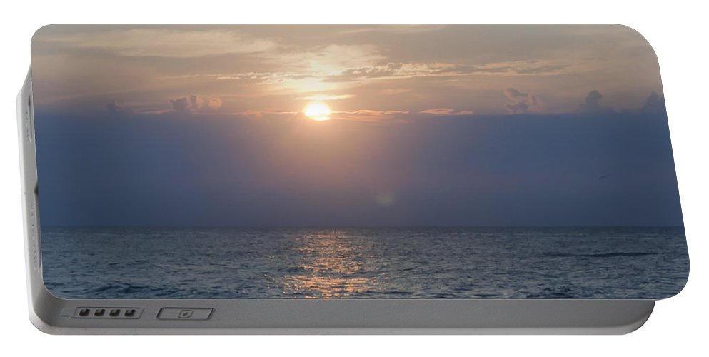 Sunrise Portable Battery Charger featuring the photograph Golden Rose Reflection Squared by Teresa Mucha