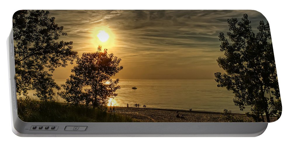 Sunset Portable Battery Charger featuring the photograph Golden Sunset by Scott Wood