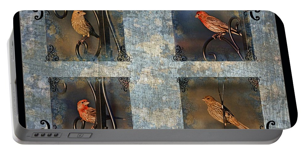 Nature Portable Battery Charger featuring the photograph Good Moning Sunshine Collage by Debbie Portwood