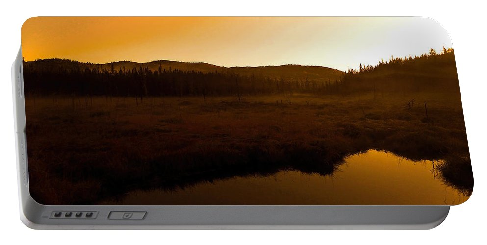 North America Portable Battery Charger featuring the photograph Good Morning Laurentians ...  by Juergen Weiss