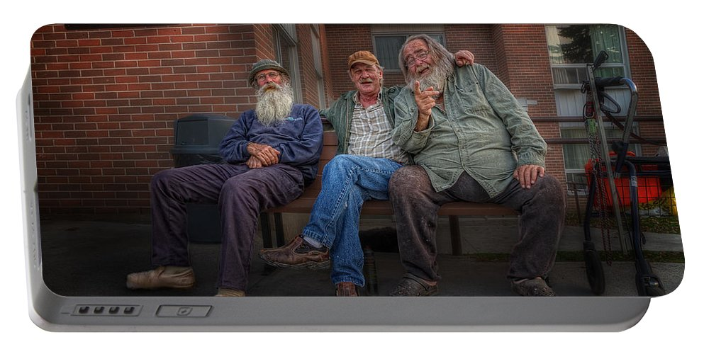 Acrylic Prints Portable Battery Charger featuring the photograph Gossips And Rumour Mongers by John Herzog