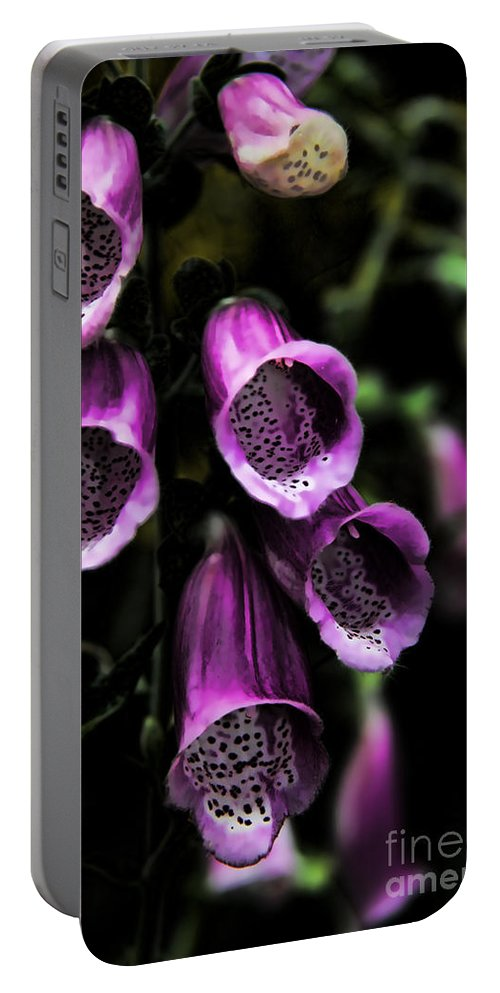 Bell Flower Portable Battery Charger featuring the photograph Gothic Bell Flower by Mariola Bitner