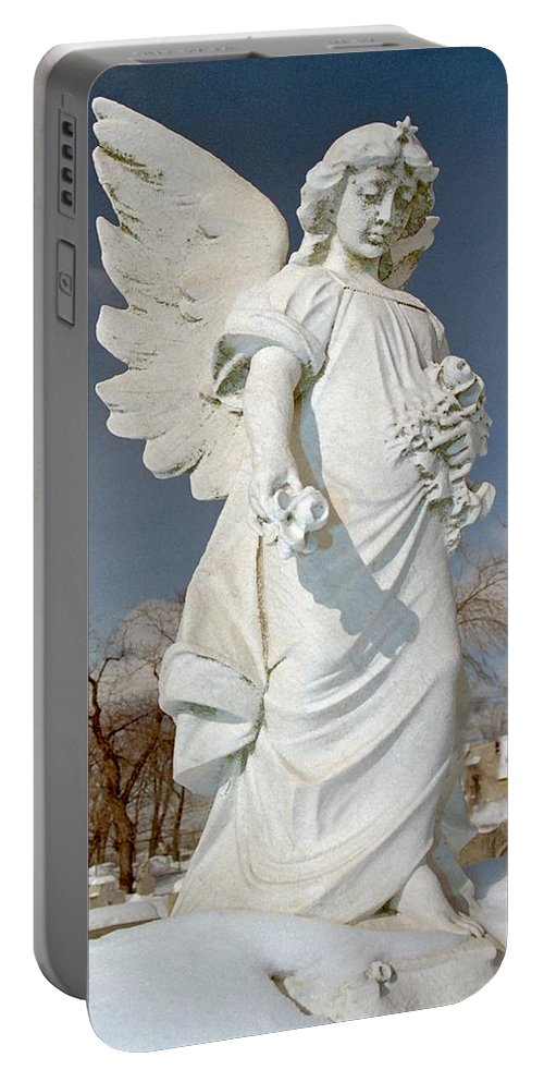 Stone Angel Portable Battery Charger featuring the photograph Gothic Blue Sky by Gothicrow Images