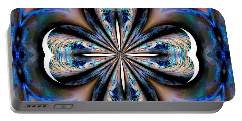Gothic Portable Battery Charger featuring the digital art Gothic Blues by Maria Urso