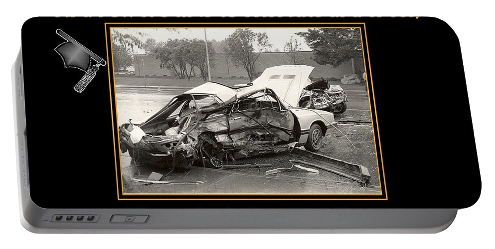 Accidents Portable Battery Charger featuring the photograph Graduation Card by Randy Harris