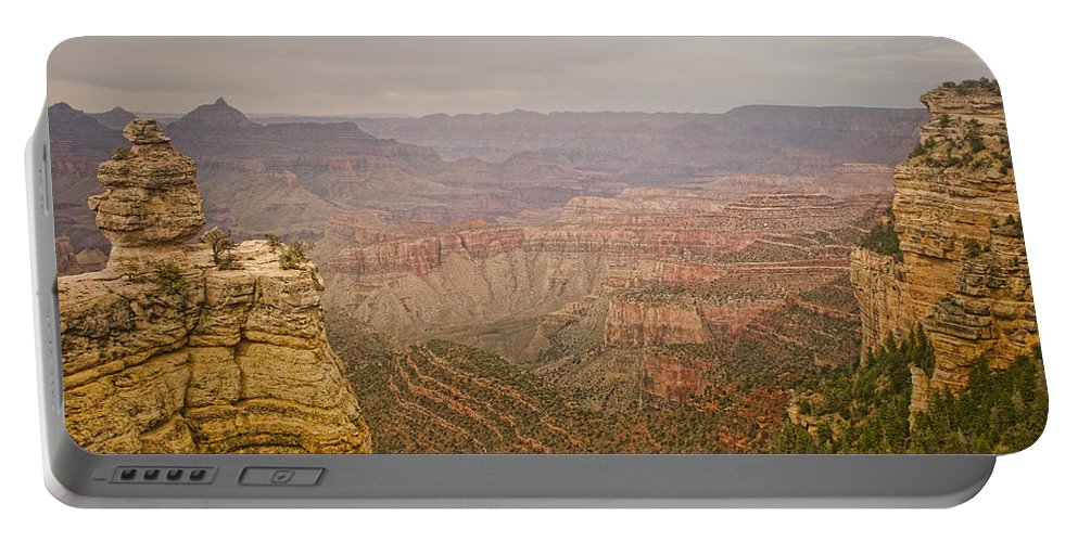 'grand Canyon' Portable Battery Charger featuring the photograph Grand Canyon Scenic Overlook View by James BO Insogna