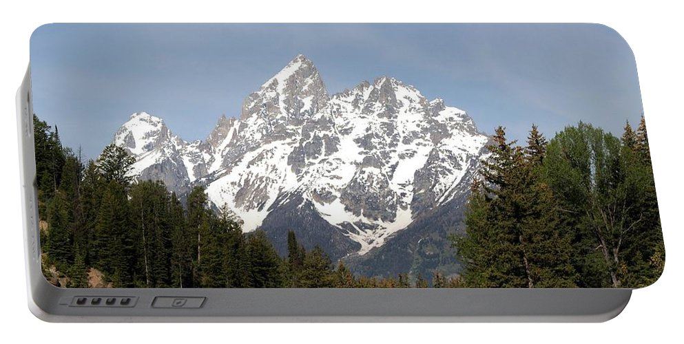Grand Tetons Portable Battery Charger featuring the photograph Grand Tetons by Living Color Photography Lorraine Lynch