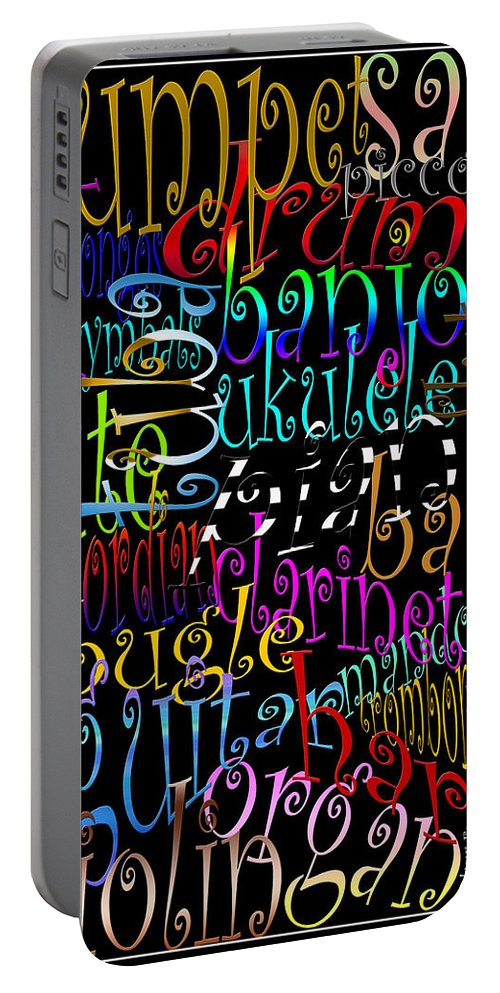 Music Portable Battery Charger featuring the photograph Graphic Music by Andrew Fare