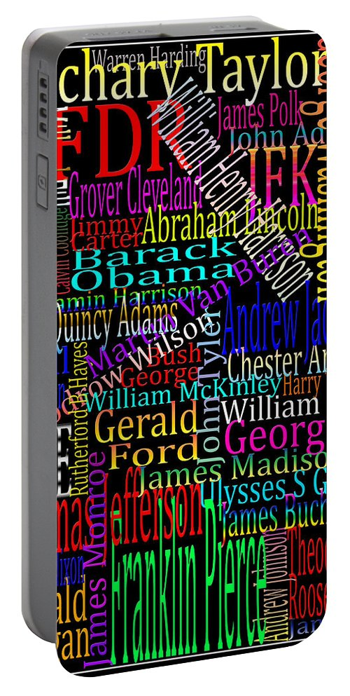 American Presidents Portable Battery Charger featuring the photograph Graphic Presidents by Andrew Fare