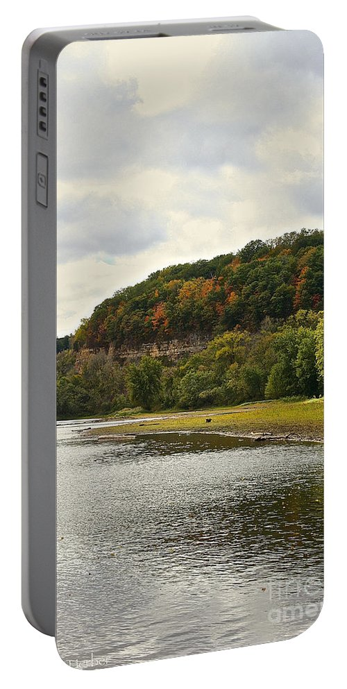 Landscape Portable Battery Charger featuring the photograph Grassy Beach by Susan Herber