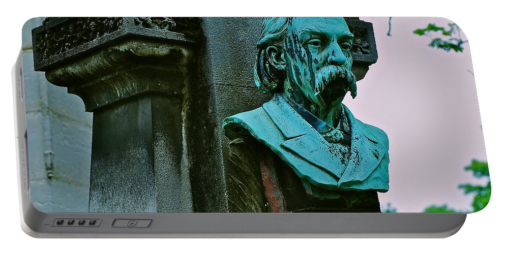 Montmartre Cemetery Portable Battery Charger featuring the photograph Grave Image by Eric Tressler