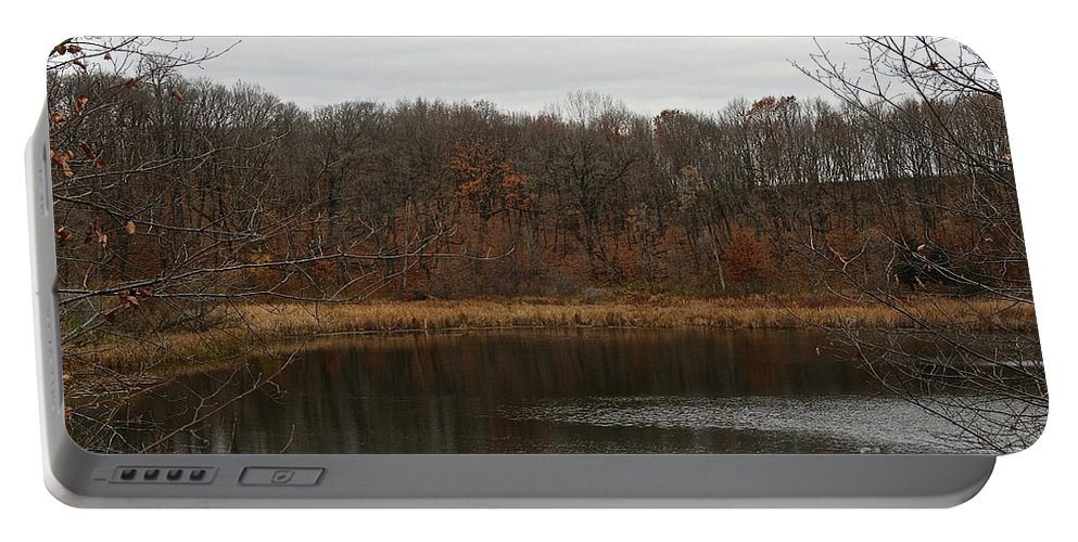 Outdoors Portable Battery Charger featuring the photograph Gray Lake by Susan Herber