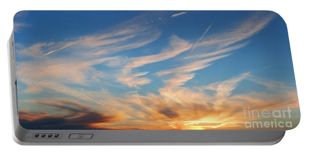 Sunset Portable Battery Charger featuring the photograph Great Canadian Sunset by Barbara McMahon