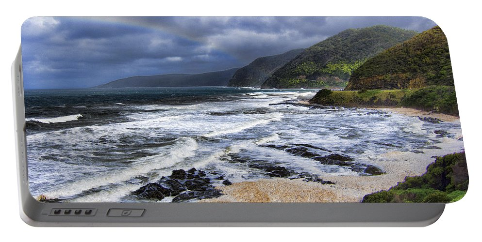 Sea Portable Battery Charger featuring the photograph Great Ocean Road V10 by Douglas Barnard